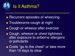 is it asthma