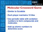 molecular crossword game