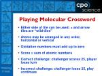 playing molecular crossword
