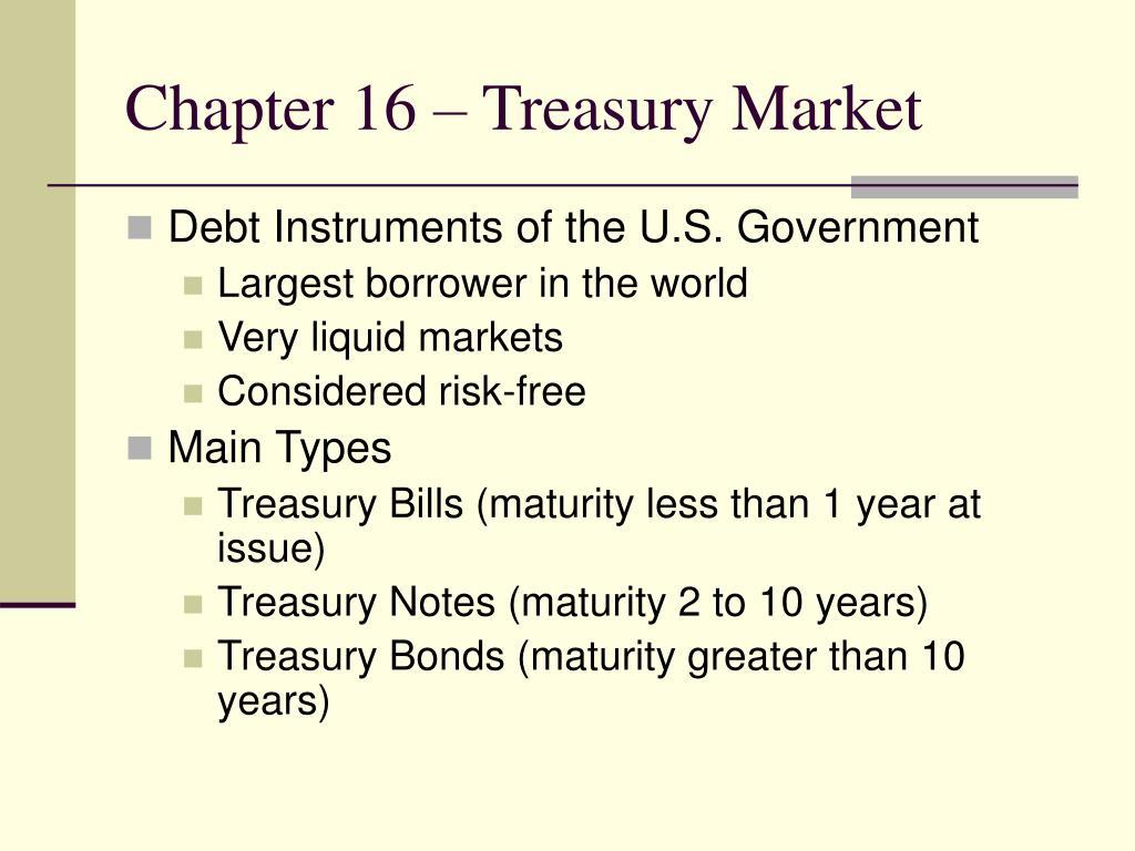 chapter 16 treasury market