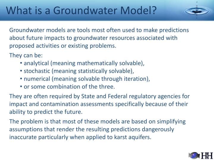 What is a groundwater model l.jpg