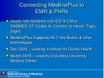 connecting medlineplus to emr phrs12