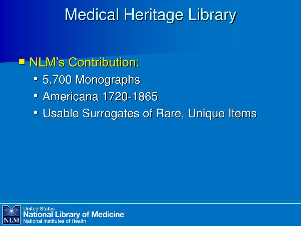 Medical Heritage Library