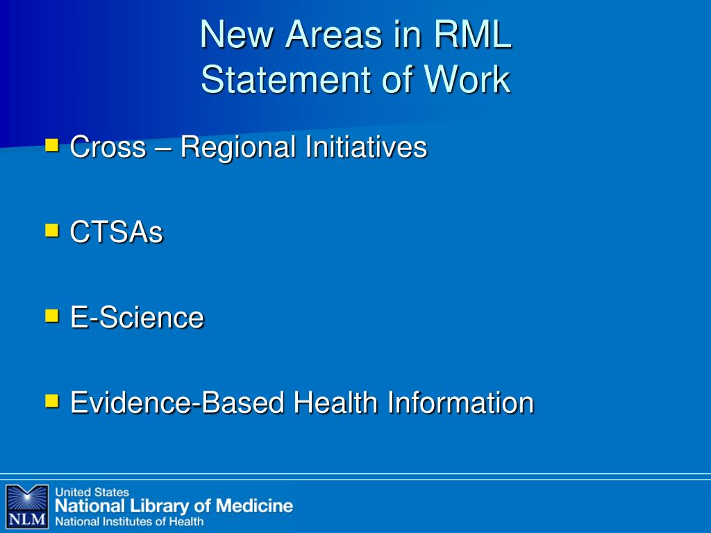 New Areas in RML