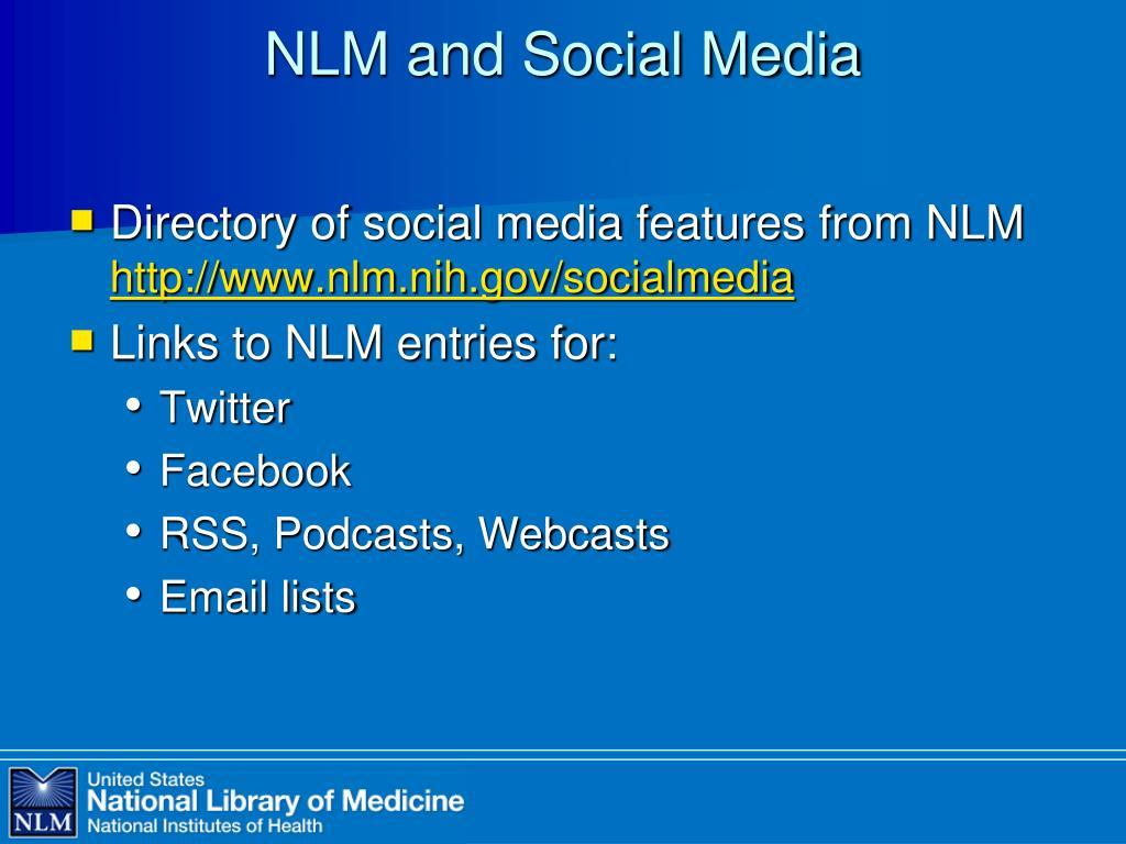 NLM and Social Media