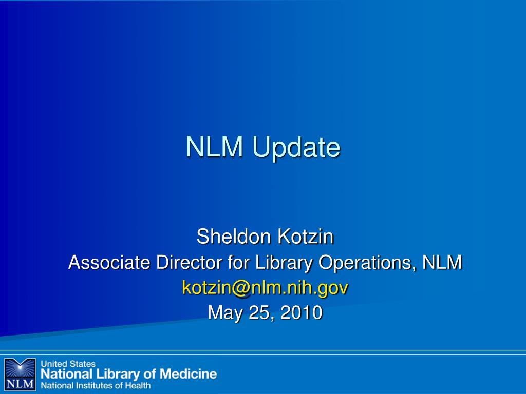 nlm update