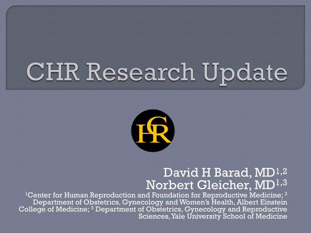 chr research update