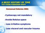 a brief history of time tot third paradigm shift