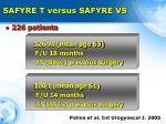 safyre t versus safyre vs
