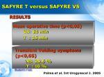 safyre t versus safyre vs2