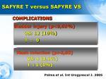 safyre t versus safyre vs3