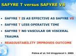 safyre t versus safyre vs4