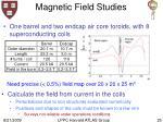 magnetic field studies25