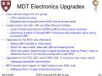 mdt electronics upgrades