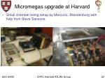 micromegas upgrade at harvard