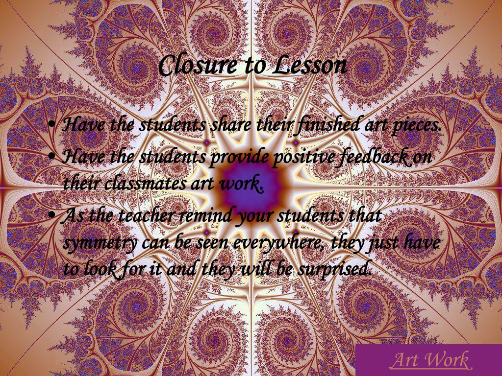 Closure to Lesson