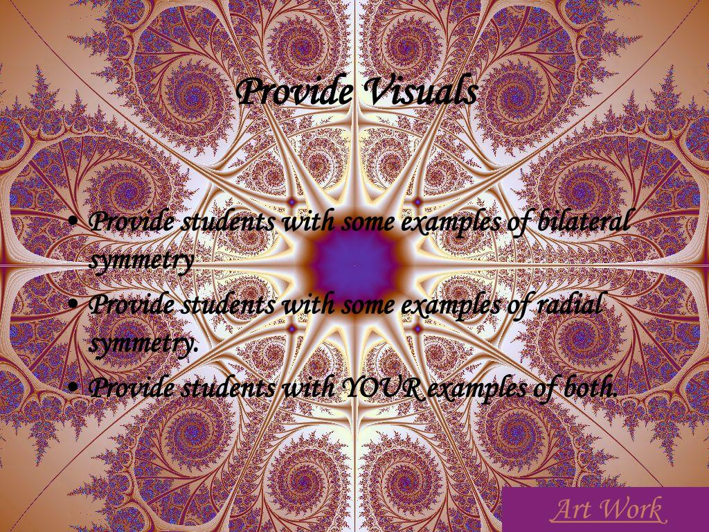 Provide Visuals