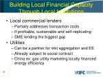 building local financial capacity through local institutions