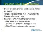 financing small scale enterprise
