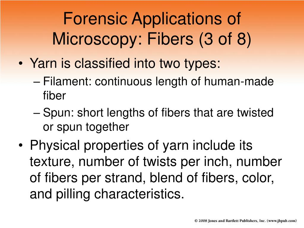 Forensic Applications of Microscopy: Fibers (3 of 8)