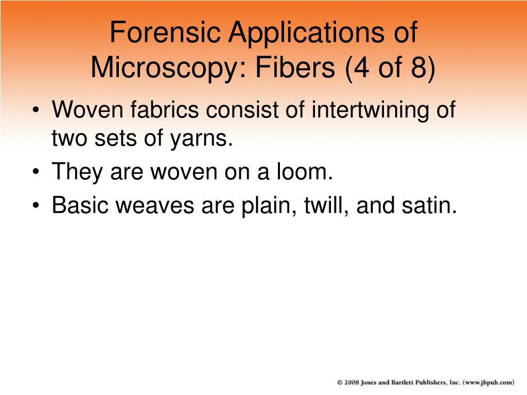 Forensic Applications of Microscopy: Fibers (4 of 8)