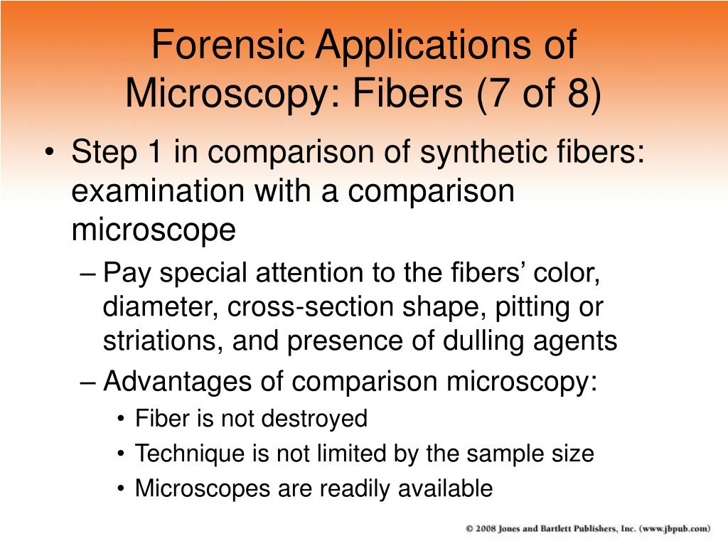 Forensic Applications of Microscopy: Fibers (7 of 8)