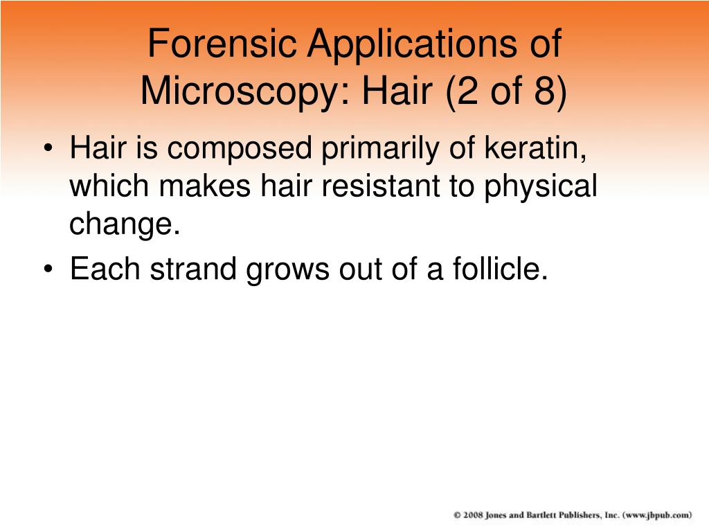 Forensic Applications of Microscopy: Hair (2 of 8)