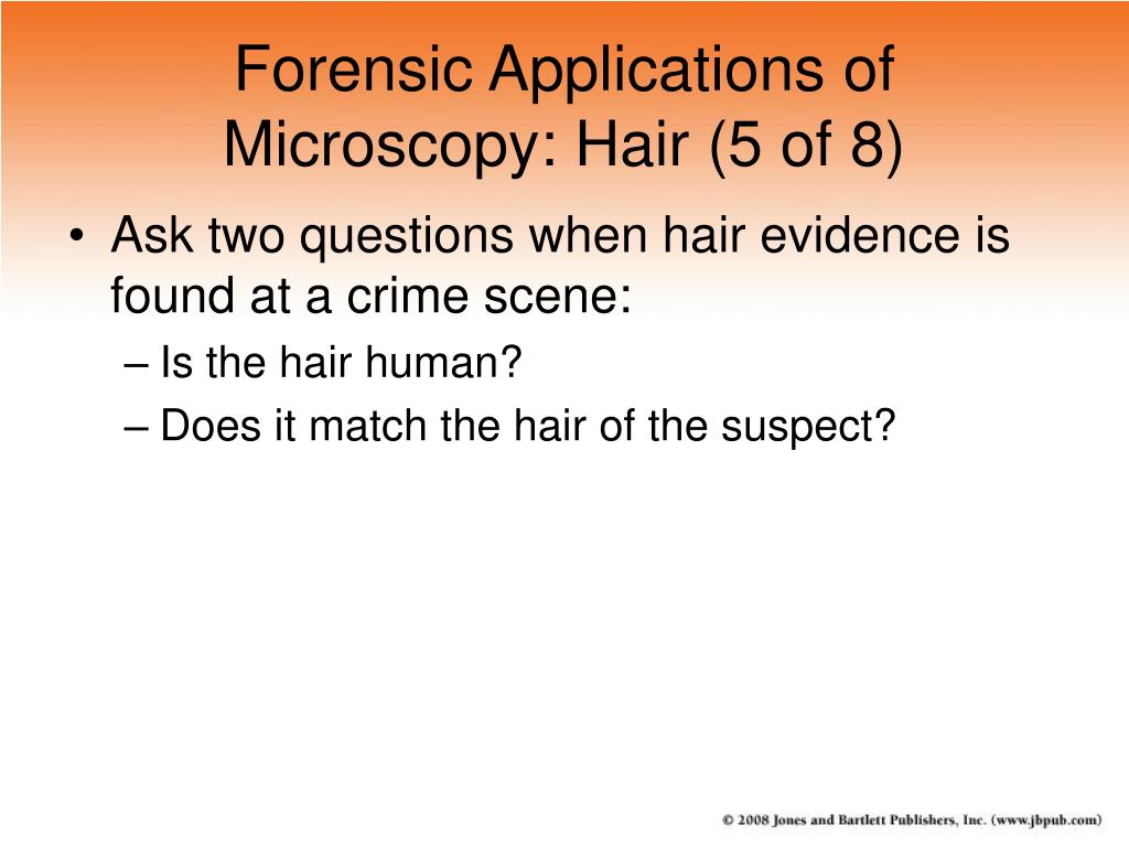 Forensic Applications of Microscopy: Hair (5 of 8)