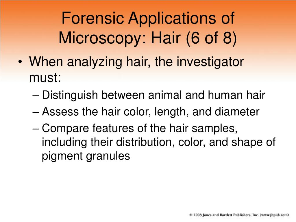 Forensic Applications of Microscopy: Hair (6 of 8)