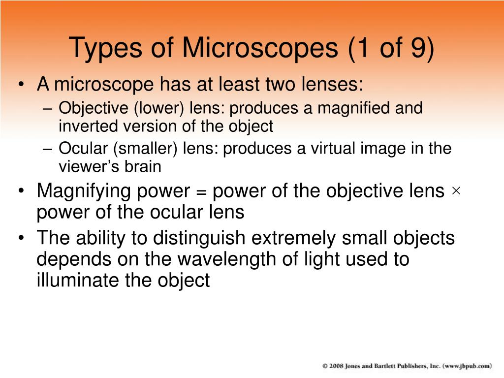 Types of Microscopes (1 of 9)
