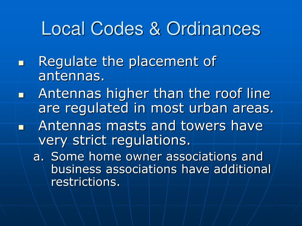 Local Codes & Ordinances