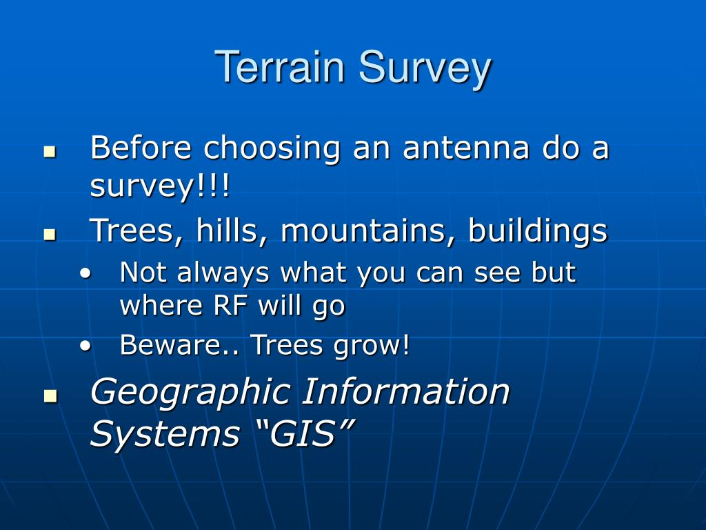 Terrain Survey