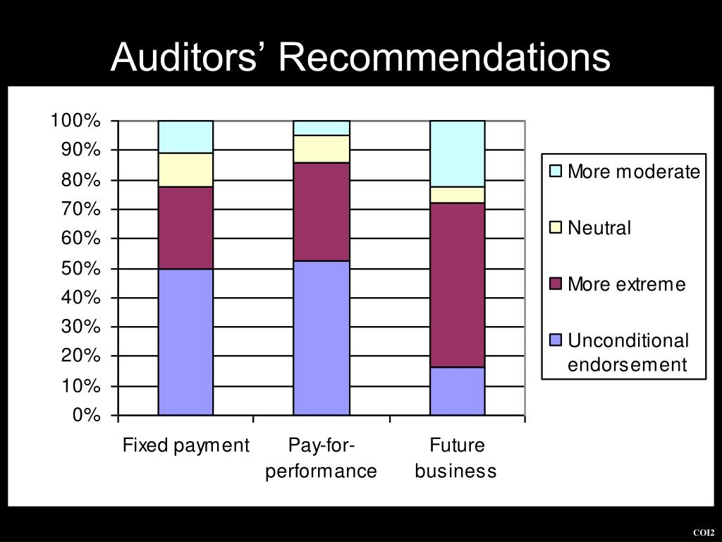 Auditors' Recommendations