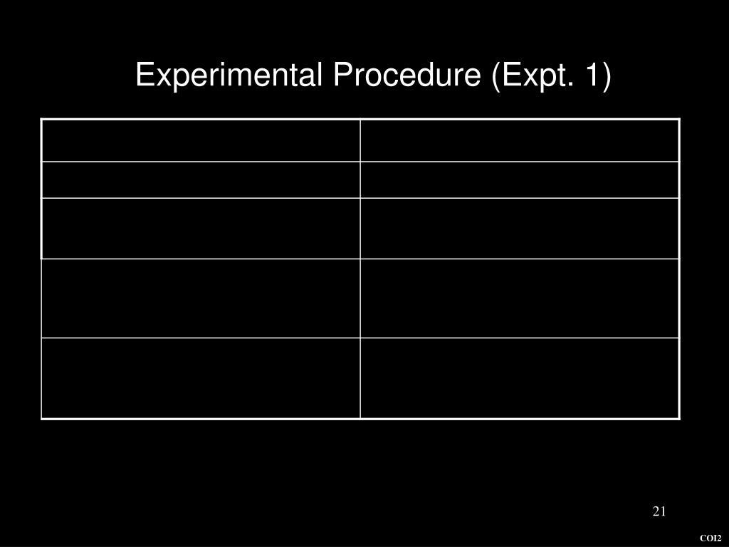 Experimental Procedure (Expt. 1)