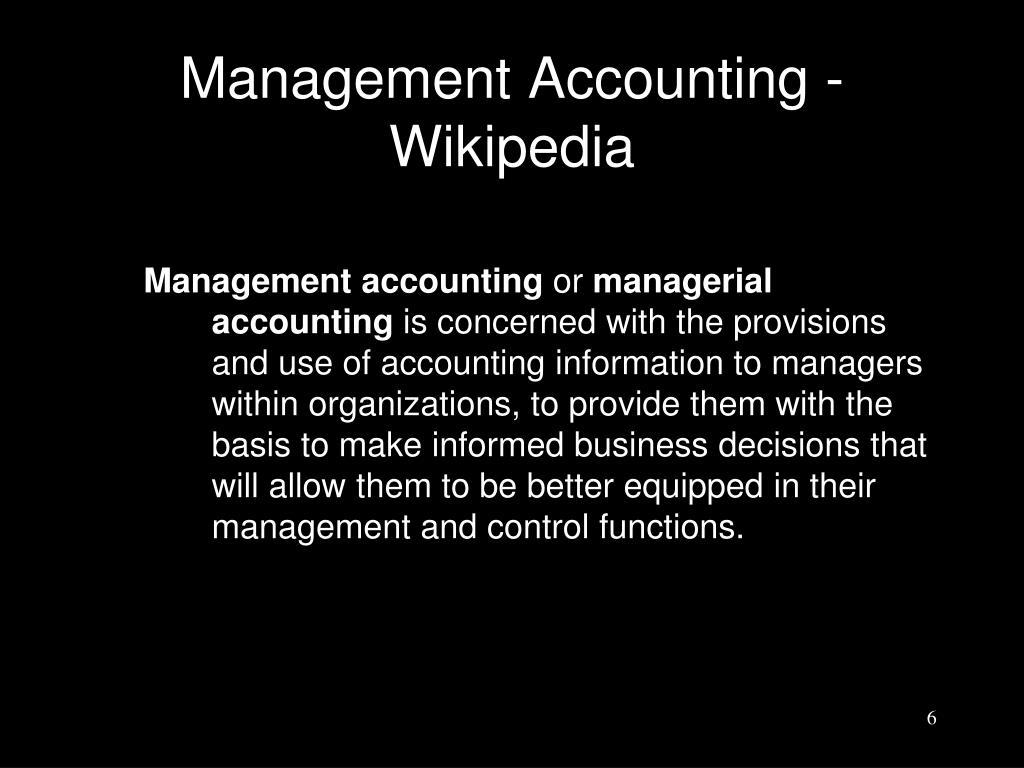Management Accounting - Wikipedia