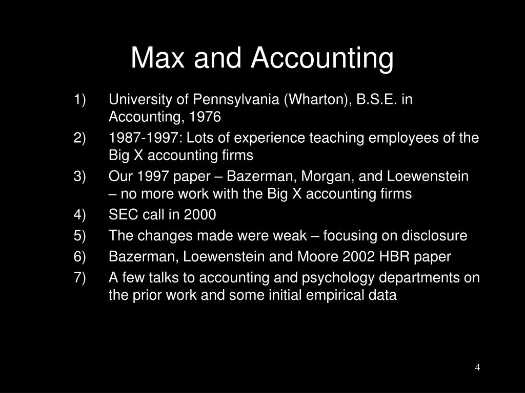 Max and Accounting