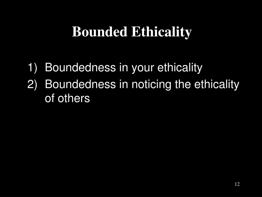 Bounded Ethicality