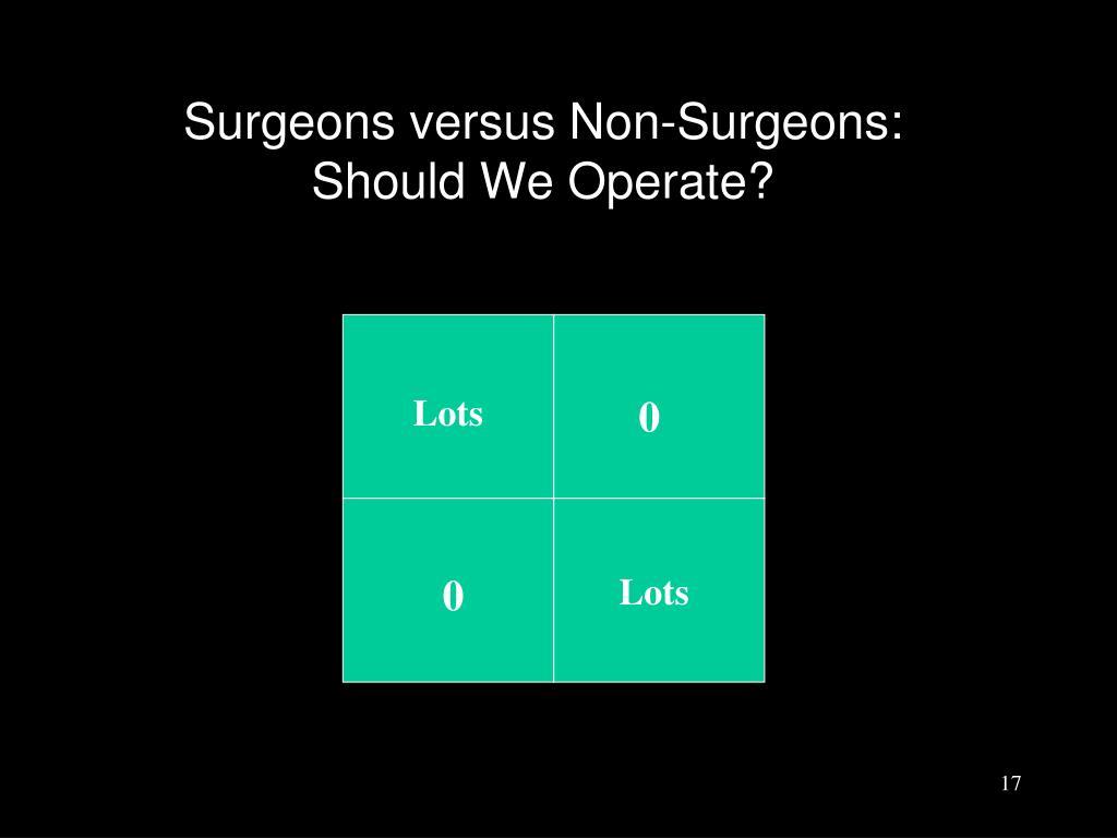 Surgeons versus Non-Surgeons: