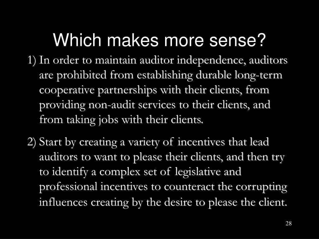 Which makes more sense?