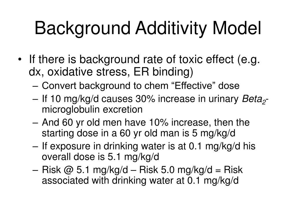 Background Additivity Model