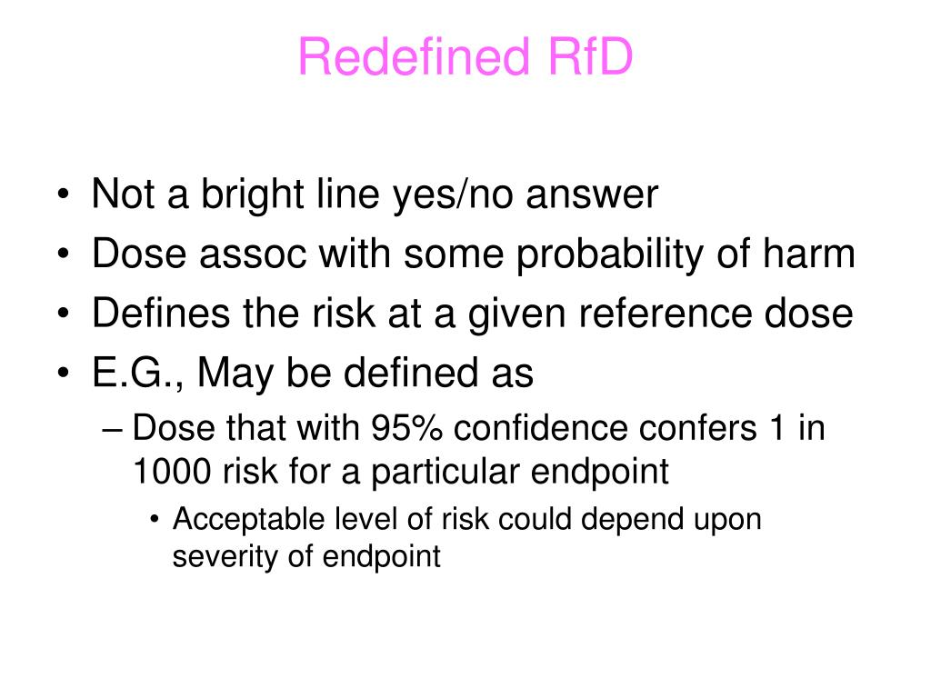 Redefined RfD