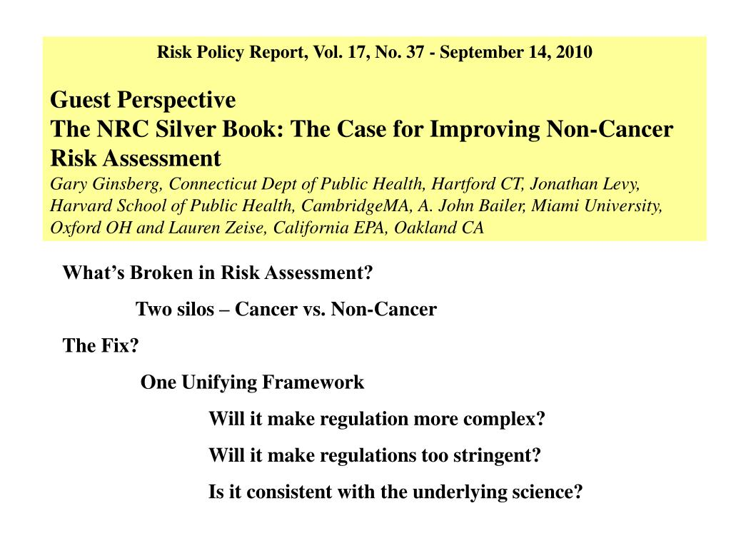Risk Policy Report, Vol. 17, No. 37 - September 14, 2010