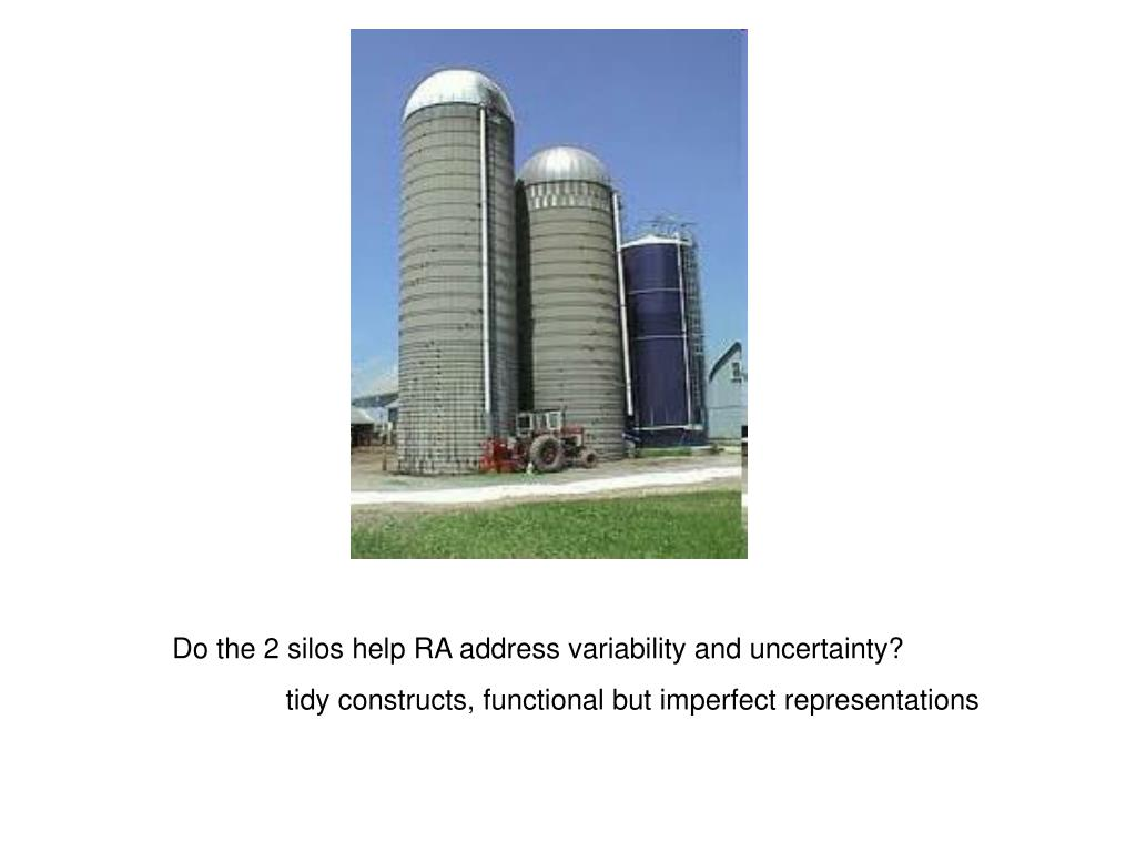 Do the 2 silos help RA address variability and uncertainty?