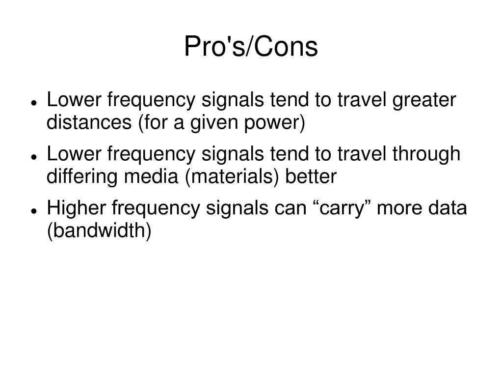Pro's/Cons