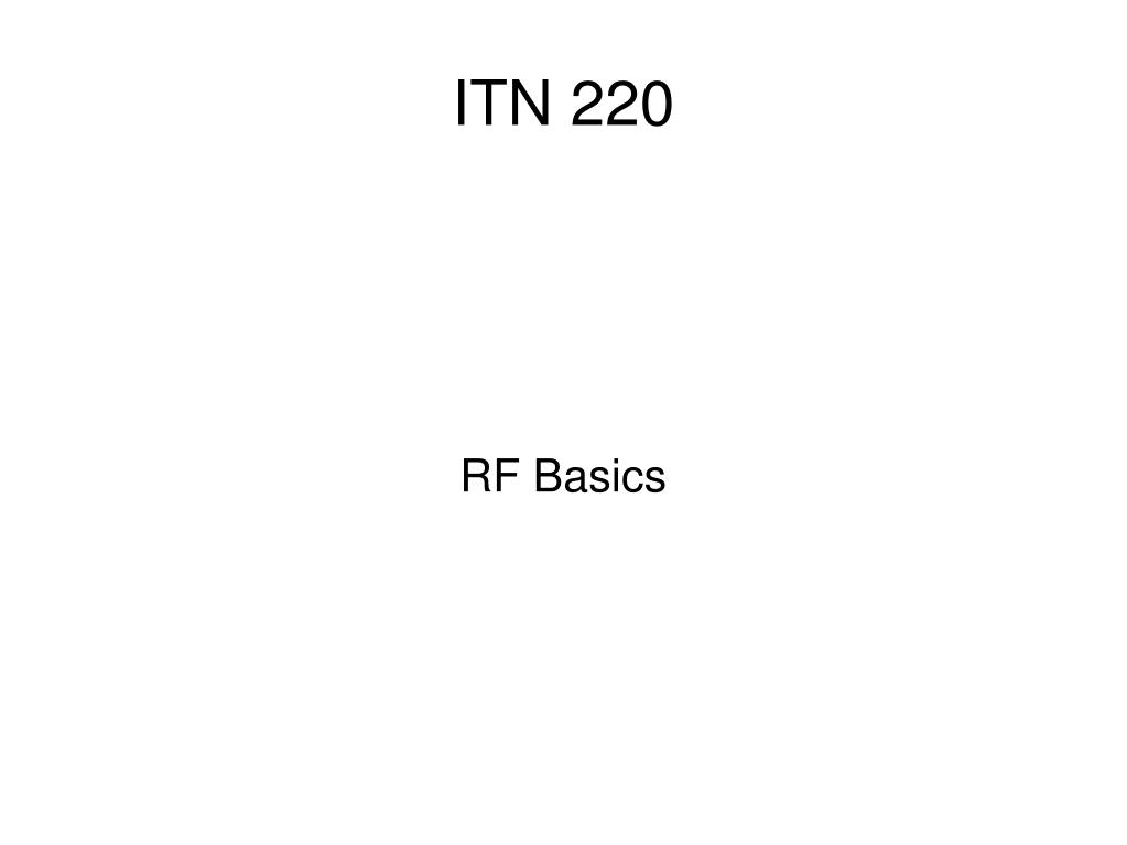 RF Basics
