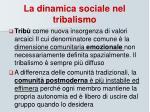 la dinamica sociale nel tribalismo