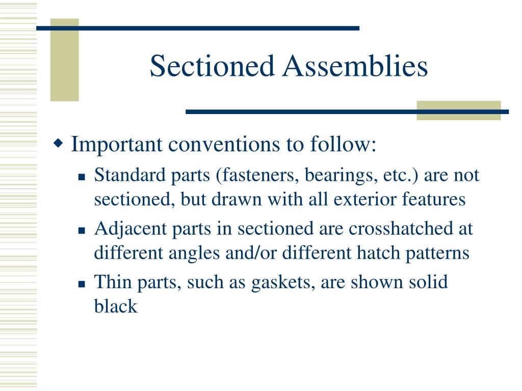 Sectioned Assemblies