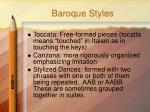 baroque styles