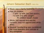 johann sebastian bach 1685 1750