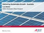 delivering sustainable growth australia